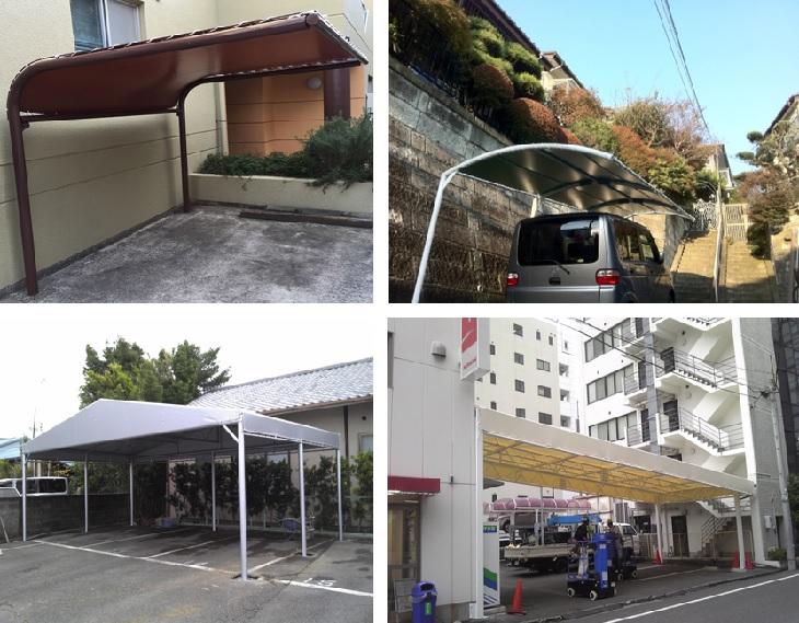 駐車場・駐輪場の雨除けテント